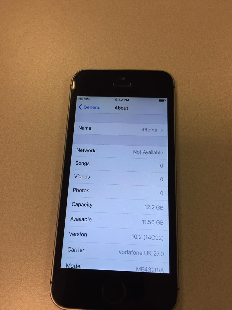 iPhone 5S 16GB Vodafonein City of London, LondonGumtree - iPhone 5S Black 16GB Vodafone With Charger only No box No other accessories Good condition rarely used