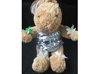 Build a bear teddy with a pair of outfit