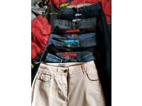9 pairs size 8-10 jeans