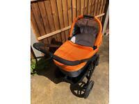 Uppababy Vista Travel System (Buggy / Pram) - 2013 model in tangerine / orange and black