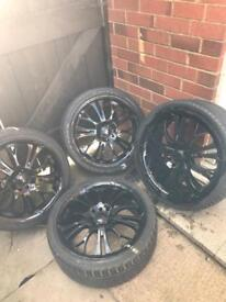 """17"""" alloy wheels & tyres 4 stud"""