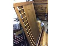 Ikea Hemnes King Sized Solid Pine Bed