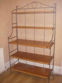 Steel & pine shelving unit