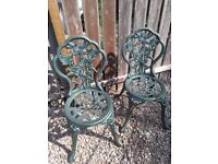 Cast Iron (very heavy) Garden Chairs
