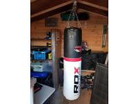 RDX heavyweight punchbag and gloves