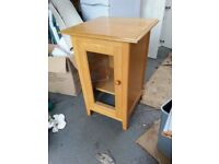 Glass Fronted Cupboard, 55cm x 55cm x 83cm