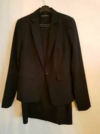 Dorethy perkins Black suit, size 12, skirt and jacket
