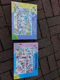 2 x GALT sparkle jigsaw puzzles