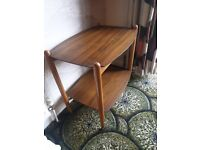 Venson Retro mid century coffee table 2 tier
