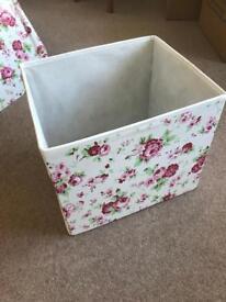 Floral ikea boxes