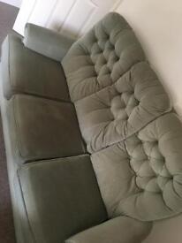 Comfortable 3-seater green sofa