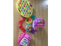 Toddler toy bundle- Peppa pig, Minnie Mouse and leapfrog