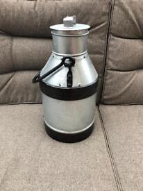 Milk Churn - 10l - Silver/Black Stripe