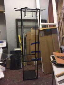 Super Sturdy, Designer Black Steel Coat Rack - Cool and Functional