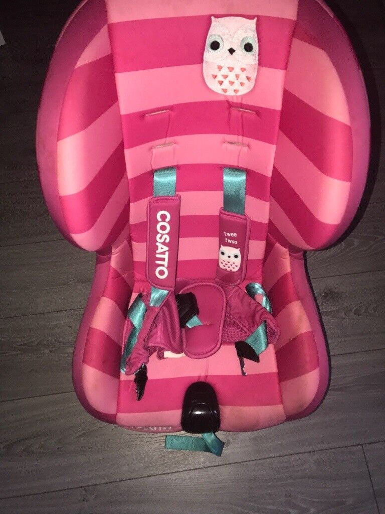 Pink Cosatto Owl Car Seat