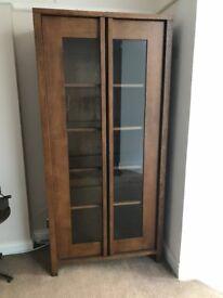 High quality dark oak display cabinet