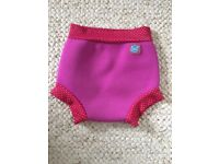 Pink happy nappy for swimming