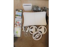 NINTENDO WII CONSOLE BUNDLE - WII FIT-YOGA, MARIO KART, WII SPORTS