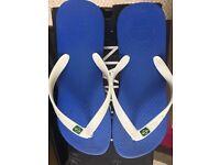 Mens / Boys Blue Sandals Flip Flops.