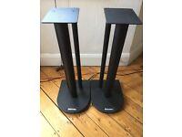 Atacama Nexus Speaker Stands (60cm) - Satin Black - Excellent Condition