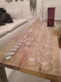 Tumblers, wine, champagne and shot glasses central London bargain