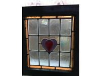 Original stain glass window panels