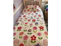 Bedspread and matching curtains Girls bedroom