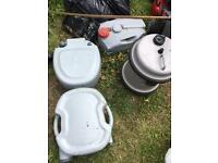 Camping/caravan equipment/toilet