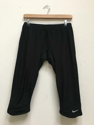 Womens Nike Dri- Fit Black Crop Cropped Gym Training Running Leggings Size Med for sale  Shipping to Nigeria