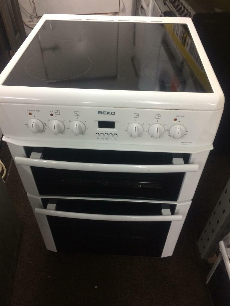 White beko 60cm ceramic hub electric cooker grill & fan oven good condition with guarantee bargain