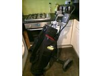 Full Golf Club Set With Matching Bag and Trolley