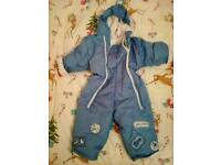 Blue Snowsuit - Age 12-18 Months