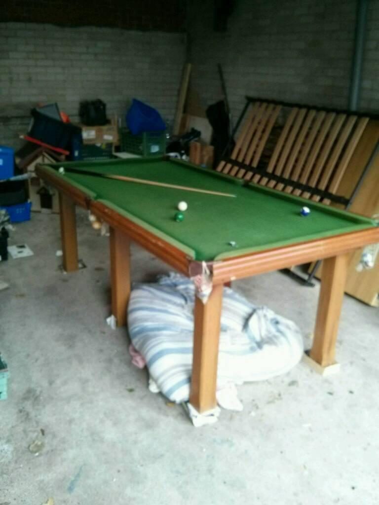 Solid slate pool table
