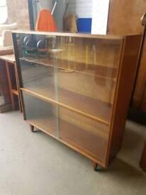 Vintage glass display unit