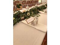 47 white linen napkins