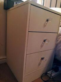 Pair of cream Bedside lockers