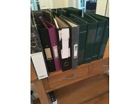 x6 lever arch files and x3 ring binder files - Used but in good condition