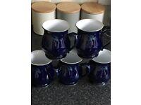 DENBY Tea pot, milk jug, sugar bowl and 5 mugs. Excellent condition.