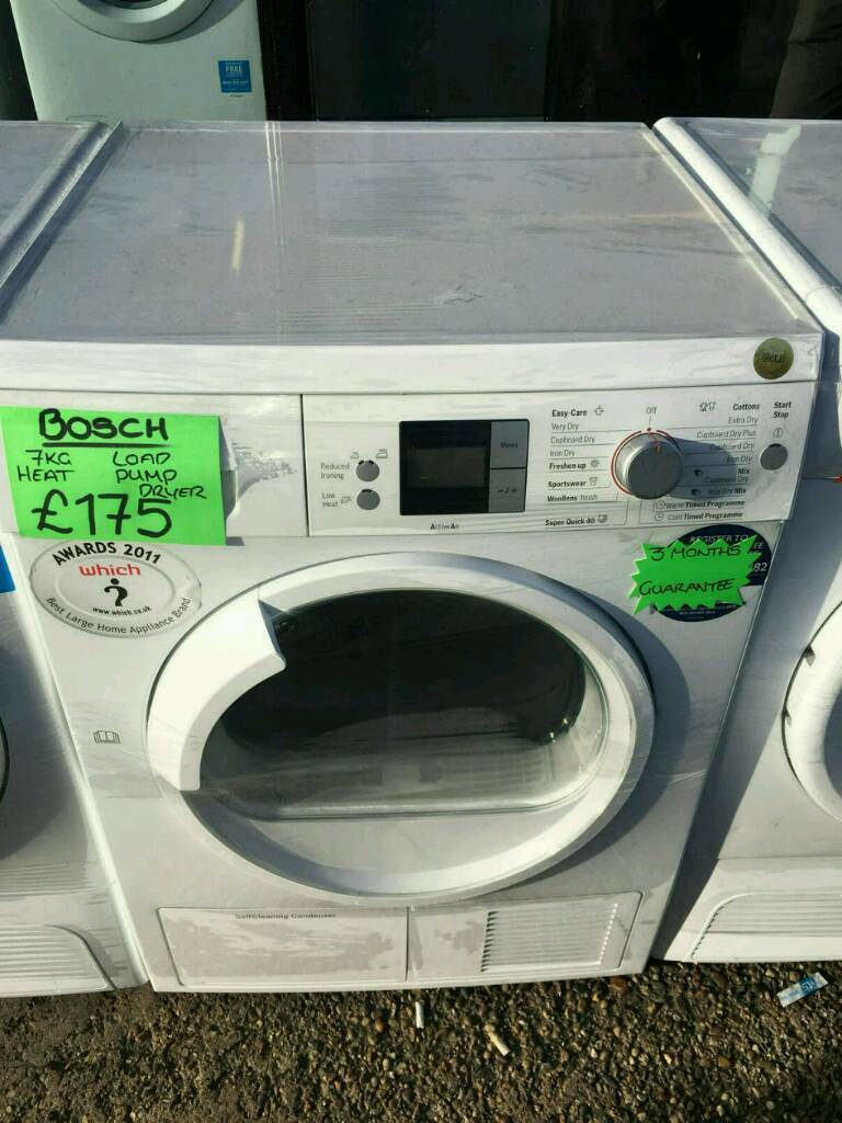 BOSCH 7KG HEAT PUMP DRYER IN WHITE