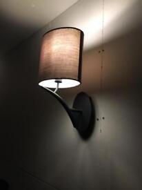 Three stylish wall lamps