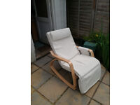 Two relax rocking chairs (one white, one green) - Almost never used