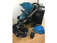 Icandy peach stroller peacock plus extras 3 in 1 travel system