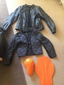 Motorbike jacket and padding for sale