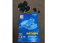 Minimates C3 construction mini-flyer vehicle with Batman/ Batgirl (like LEGO)