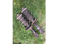 Shock absorber/coil spring/ full suspension arm