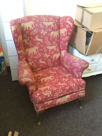Red and Yellow Arm Chair - Good condition