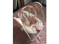 Bright Starts Comfort & Harmony Portable Baby Swing Pink Girafloo