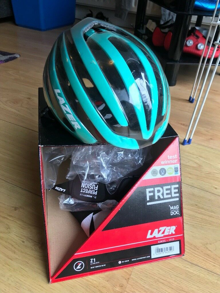 Lazer Z1 Helmet Matte Mint Green Blue Medium In