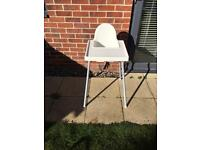 Ikea High Chair / Baby Feeding Chair