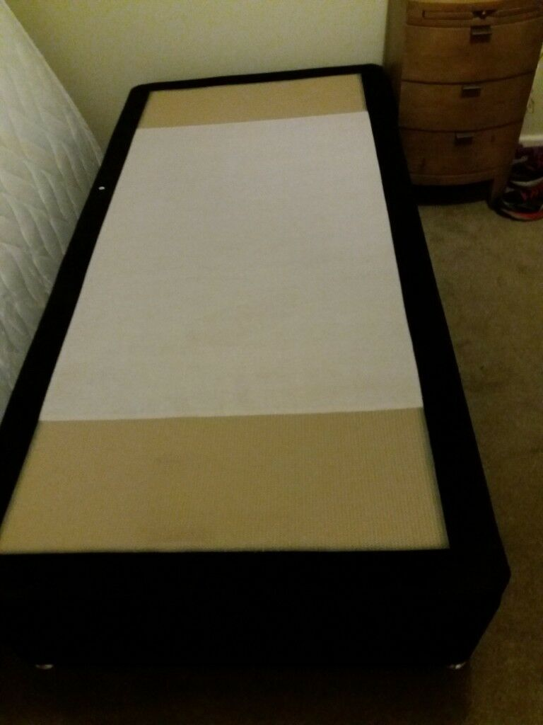 Single Divan Bed Base With Lift Up Storage Underneath